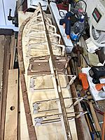 Name: persuading all the frames to stand still.jpg Views: 72 Size: 4.01 MB Description: Here are the frames being test fitted with the sheers ready to be fitted. At this stage I became convinced that Rich and Pat have three hands each!