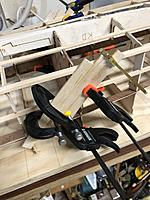 Name: IMG_2449.jpg Views: 40 Size: 3.31 MB Description: And we're off. Both sides at once and lots of clamps.