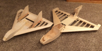 Name: Balsa USA Force One and Northstar 1.png Views: 29 Size: 1.99 MB Description: May 2017: Bare-bone Balsa USA Bros. Force One in the midst of being refurbished and Northstar still waiting to be completed.