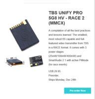 Name: TBS UNIFY PRO 5G8 HV RACE 2 (MMCX).PNG Views: 148 Size: 122.3 KB Description: