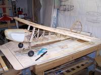 """Name: Build Pic 5.jpg Views: 312 Size: 93.3 KB Description: PassTime Hobbies reproduction short kit of the Berkeley 72"""" C170, with FGS Bird-Dog Cowl, 3-Channel, adding 4th for ailerons."""