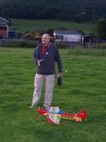 Name: 100_7010.jpg Views: 163 Size: 102.6 KB Description: Ian and his new 3D plane before impact......
