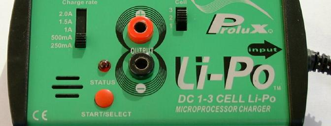 The Prolux 3834 charger, showing the main panel.
