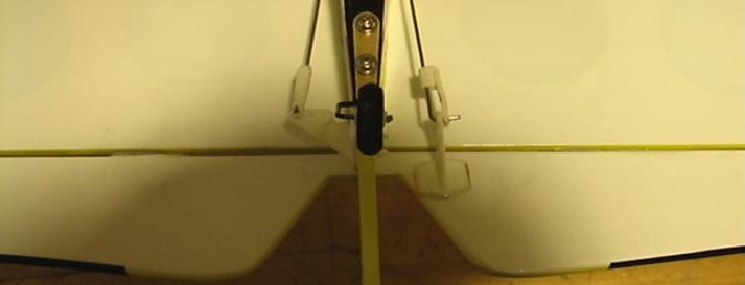 A few bends may be necessary to make sure the tail wheel is aligned with the ruddder.