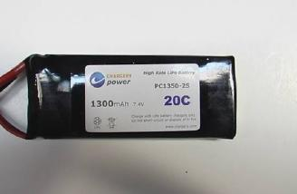 The 2-cell 1300 mAh Chargery Power battery