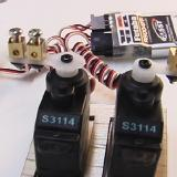 Check all your servos for correct movement and centering.