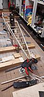 Name: 20191121_093435.jpg Views: 72 Size: 1.38 MB Description: Bulkhead 10T now in place and the two longerons in fixed. Cross piece 14 replaced to give a smoother taper. Halfway through the 2nd paragraph of I.P's build notes. Just another 6 pages :)