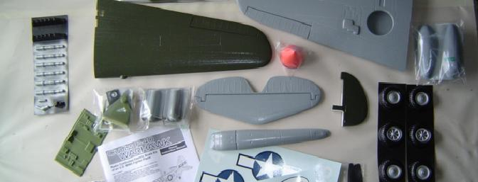 Kit contents, including numerous scale features