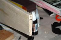 Name: DSC_5667m.jpg Views: 271 Size: 63.3 KB Description: I used a 1/8 strip to sand the sheeting overlap to the proper length. I did this such that the leading edge of the elevator can be rounded and have inset hinges