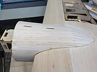 Name: IMG_0248.jpg Views: 378 Size: 555.5 KB Description: I was in a hurry when I first framed up the Bobcat, so I didn't take a lot of pictures during the build. Here's one of the nacelles showing the pre cut sheeting/planking