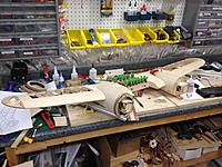 Name: IMG_0269.jpg Views: 439 Size: 687.0 KB Description: The wing is built in halves to make construction easier and then they are joined together.
