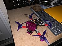 "Name: IMG_0158.JPG Views: 86 Size: 4.18 MB Description: 5"" FPV Drone RTF  Armattan Marmotte 5"" Frame, iFlight Xing 2207 2400kv motors, micro eagle fpv camera, Tramp VTX, crossfire nano receiver w/ immortal T v2.  Bardwell F4 FC and Bardwell 4in1 ESC.  Various Props but shown with RaceKraft props.  As"