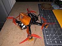 "Name: IMG_0159.JPG Views: 50 Size: 3.92 MB Description: 4.8/5"" FPV Drone RTF  Armattan Chamelleon Ti Frame, Lumenier Lux F7 Ultimate FC, Bardwell 4in1 ESC, Tramp VTX, Lumenier Eagle 2 Pro FPV Camera, Johnny FPV 2207 2700kv motors.  Can take various props but shown with azure johnny 4.8 props.  Asking $175"