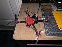 """Name: IMG_0161.JPG Views: 53 Size: 3.79 MB Description: 7"""" FPV Drone RTF LR  This is my long range beast.  TBS Source 1 Frame w/ 7"""" arms, Xing 2208 1700kv (6s rig), crossfire nano receiver w/ immortal T, bardwell fc and 4in1 esc, Tramp VTX, and Foxeer Falkor fpv camera.  Very light.  Asking $150"""
