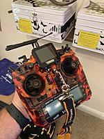 Name: IMG_0150.jpg Views: 51 Size: 3.90 MB Description: Frsky Taranis X9D Plus  M9 Hall Gimbals, Gimbal protectors, Crossfire Micro TX Module w/ immortal T & Diamond Antennas, Kickstand, Newbie Drone neck strap, RDQ FPV Watch repurposed w/ velcro.  Upgraded 3s Lumenier Lipo battery.  Asking $175