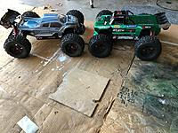 Name: KRATON 6s vs Notoruios 6s .jpeg Views: 2 Size: 171.1 KB Description: My #Arrma #6s fleet!  #v3 #KRATON #6s  VS #v4 OutCast #6s