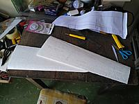 Name: editor_images%2F1547128906011-wings.jpg Views: 13 Size: 227.7 KB Description: Wings cut and not yet sanded. You can see the flaws of the cut with the hot wire.