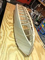 Name: image5.jpg Views: 40 Size: 3.68 MB Description: Planking the bow. For my next build I think I will plank horizontal more like the original boats.