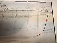 Name: IMG_E9863.jpg Views: 24 Size: 529.8 KB Description: Superimposing the 1950 bow shape over the Sterling plans