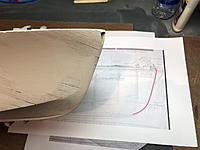 Name: bow2.jpg Views: 21 Size: 709.0 KB Description: At this point the hull is already filled and smoothed with Famowood filler. There was not enough material to avoid filling a hole