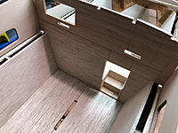 Name: 2.jpg Views: 22 Size: 750.8 KB Description: Aft cabin bulkhead. I will later dis-guard the kit parts and build new ones.