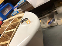 Name: 14.jpg Views: 27 Size: 574.0 KB Description: For the lens, I turned an acrylic rod to size and shape, cut it in half and fit it in the notch. I drilled a hole in the bottom and wired it from inside the cabin with a Pico LED