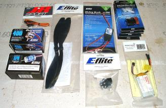 All the additional E-Flite components needed to get in the air.