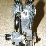 Rear view. Notice the crankcase breather mounted in rear cover.