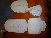 Name: DSC00499.JPG Views: 31 Size: 865.2 KB Description: A stack of fuselage formers, 54 pieces in all.  Would have been way more if I followed the plans and used balsa as designed.  Many of the formers are 3 pieces of balsa plus bracing.