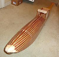 Name: DSC00064.JPG Views: 13 Size: 518.0 KB Description: Got a coat of polyurethane on all the planking.
