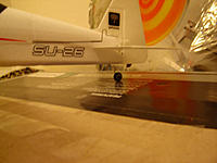 Name: DSC00752.jpg Views: 152 Size: 44.7 KB Description: Tail wheel moved to the rear of the fuselage to protect the rudder on bad landings.  Still taxis nicely on a parquet floor.
