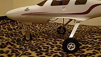 "Name: P1000622.jpg Views: 88 Size: 148.2 KB Description: 75mm (3"") mains and 2"" castor nose wheel"