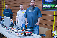 Name: npmac2013funfly-41.jpg Views: 45 Size: 235.5 KB Description: Brian (right), from Frankenquad and D&K Hobbies. Also seen is Danny (left) from D&K Hobbies. These guys were very friendly and really helpful. Brian even donated a quad frame to our club!