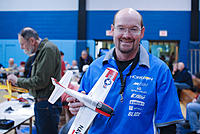 Name: npmac2013funfly-51.jpg Views: 39 Size: 289.4 KB Description: Shown here is Dave Lockhart with his stock T-28, that won the open class pylon two years in a row. Dave's dad is also in the shot off to the left. These guys know their pattern!