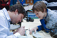 Name: npmac2013funfly-70.jpg Views: 34 Size: 287.3 KB Description: Father son team Mike and Andrew worked on a custom plane