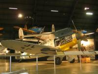 Name: BF109G.jpg Views: 136 Size: 54.3 KB Description: BF-109G sits between the museum's B-17 and FW-190D in the Air Power Gallery. Among the other large aircraft present in this enormous gallery is a B-29 and a B-24.