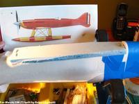 Name: IMG_1536.jpg Views: 252 Size: 75.5 KB Description: Blue Fan Fold Foam deck build    -    For-Macchi GW-72 (GWS Formosa built as Macchi MC-72 racer)