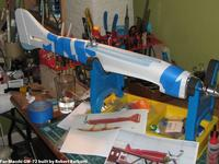 Name: IMG_1566.jpg Views: 258 Size: 89.9 KB Description: Blue Fan Fold Foam deck build    -    For-Macchi GW-72 (GWS Formosa built as Macchi MC-72 racer)