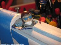Name: IMG_1567.jpg Views: 238 Size: 68.6 KB Description: Blue Fan Fold Foam deck build    -    pilot installed  -  For-Macchi GW-72 (GWS Formosa built as Macchi MC-72 racer)