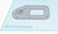 "Name: vtx hatch.PNG Views: 14 Size: 513.8 KB Description: I used Tinkercad to create a ""custom"" vTx mount for my Tramp HV vTx."
