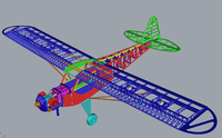 Name: J3 CUB 60cc gas 2.6M.png Views: 21 Size: 287.2 KB Description: the finished 3D construction drawing to cut all the parts from