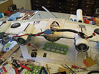 Name: Lib rebuild 005.jpg Views: 48 Size: 268.9 KB Description: Wing side in. One lead is Deans, lipo power in and the armored cable is all the wing servo leads.