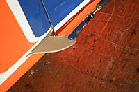 Name: DSCF2474.jpg Views: 294 Size: 172.9 KB Description: Final rudder linkage after I screwed up the pull-pull geometry...