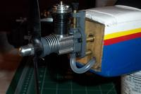 Name: GRACE 3.jpg Views: 473 Size: 41.0 KB Description: Mounting a new engine - the other one didn't have the rod socket reset before running and wallowed it out to the point the socket could not be reset.
