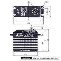 Name: AGFRC A280BHMW 78KG High Torque Brushless Digital 5th Scale Gaint Servo 4.jpg Views: 2 Size: 253.6 KB Description: