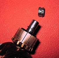 Name: bearing center cut.jpg Views: 317 Size: 96.2 KB Description: Inner bearing race slotted for easier removal.
