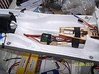 Name: 100_1954.jpg Views: 110 Size: 97.3 KB Description: One 90 fan for this size plane and she aint lite either with two 4s 5000 in series. Note the 100 amp ICE esc. That shoul tell you the power output :)