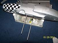 Name: 100_2341.jpg Views: 272 Size: 93.9 KB Description: aluminum rods for support for both wing halves. There are carbon tubes in each wing half these pass into.