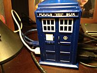Name: IMG_0787[1].jpg Views: 52 Size: 169.5 KB Description: If we all had a Tardis we would never lose an airplane...  Tardis USB plays time shift initialization when you plug in a device -- complete with blue light... No Don, you can't have it...