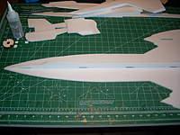 Name: JTechLaser SR-71 build pics 004.jpg Views: 1361 Size: 85.2 KB Description: Forward top fuse section glued on.
